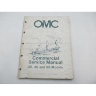 507449 OMC Johnson Evinrude Commercial Outboard Service Repair Manual 25/40/55 1984