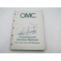OMC Johnson Evinrude Commercial Outboard Service Repair Manual 65/100/155 1984
