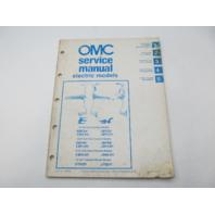 507506 OMC Johnson Evinrude Electric Model Outboard Service Manual 1985