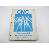 OMC Johnson Evinrude Commercial Outboard Service Repair Manual 6.5-55 HP 1985