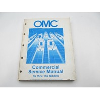 OMC Johnson Evinrude Commercial Outboard Service Repair Manual 65-155 HP 1985