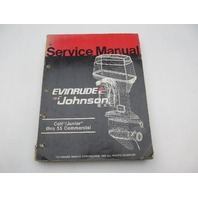 "507546 1986 Evinrude Johnson Outboard Service Manual Colt Junior-55 Comm ""CD"""