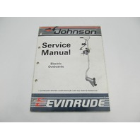 1986 1987 OMC Johnson Evinrude Electric Troller Outboard Service Manual CD & CU