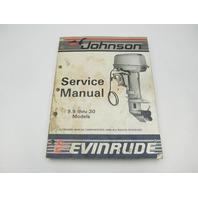 """507615 1987 Evinrude Johnson Outboard Service Manual 9.9-30 """"CU"""""""