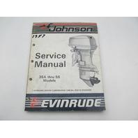 "507616 1987 Evinrude Johnson Outboard Service Manual 35A-55 ""CU"""