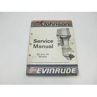 507617 1987 Evinrude Johnson Outboard Service Manual 60-75 CU Models