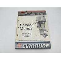 507618 1987 Evinrude Johnson Outboard Service Manual 88-110 150-175 CU Cross V