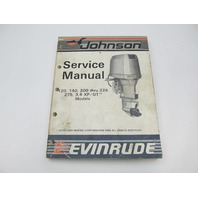 507619 1987 Evinrude Johnson Outboard Service Manual 120-275 CU Loop V
