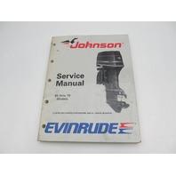 507756 1989 Evinrude Johnson Outboard Service Manual 60-70 HP CE