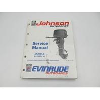 "Johnson Evinrude Outboard Service Manual 9.9-30 HP ""EI"" 1991"
