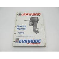 "Johnson Evinrude Outboard Service Manual 40-55 HP ""EI"" 1991"