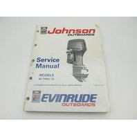 "Johnson Evinrude Outboard Service Manual 60-70 HP ""EI"" 1991"