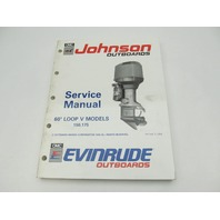 "Johnson Evinrude Outboard Service Manual Loop V 150-175 HP ""EI"" 1991"