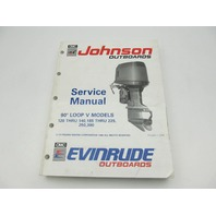 "Johnson Evinrude Outboard Service Manual Loop V 120-300 HP ""EI"" 1991"