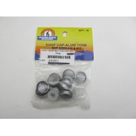 610211 Hand-Man Marine Boat Cabin #10 & 12 Gray Screw Cover Snap Caps (10)