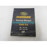 """787024 Evinrude Outboard Service Manual """"EE"""" 90-175 FFI V4 V6 1999"""
