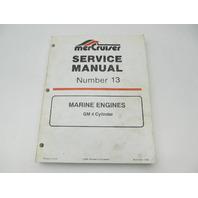 90-816462 695 MerCruiser Service Repair Manual 13 GM 4 Cylinder Marine Engines