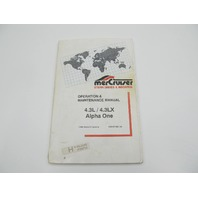 1994 Owner Operation & Maintenance Manual For Mercruiser 4.3L 4.3LX Alpha One