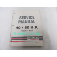 90-823265 1992-1994 Mercury Force Outboard Service Manual 40-50 HP