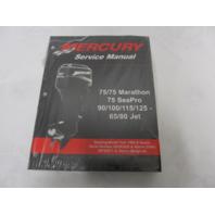 90-830234R04 Mercury Outboard Service Manual 75-125 HP 65/80 JET 75 Seapro