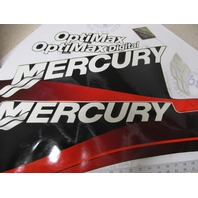 37-854293A00 Mercury Black 150 Long Optimax Outboard Decal Set NOS