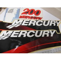 37-855410A02 Mercury Tracker Red 200 HP Outboard Decal Set NOS