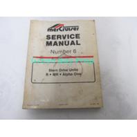 90-12934 MerCruiser Service Manual No 6 Stern Drive Units R MR Alpha 1