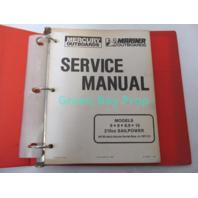 90-13449-1 1987 Mercury Mariner Outboard Service Manual 6-15 HP 210cc Sail