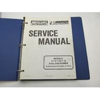 90-13449-1 1187 Mercury Mariner Outboard Service Repair Manual 6-15 HP 210cc Sail