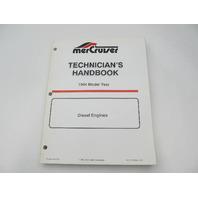 806536940 Mercruiser Diesel Engines Technicians Handbook Manual Model Year 1994