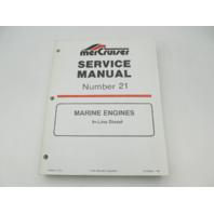 90-806934 1194 MerCruiser Service Repair Manual 21 In-Line Diesel Marine Engines