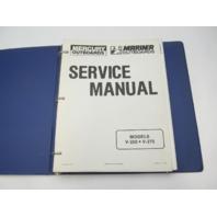 90-813779 1190 Mercury Mariner Outboard Service Repair Manual V-250 V-275