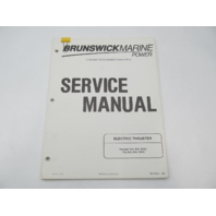 90-816427 590 Brunswick Marine Electric Thruster Trolling Motor Service Manual