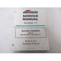 90-823225-1 1096 MerCruiser Service Manual No 17 GM V-8 5.0L 5.7L Engines Book 2