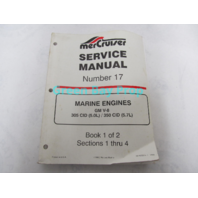 90-823225-1 MerCruiser Service Manual No 17 GM V-8 5.0L 5.7L Marine Engines Book 1