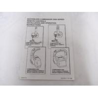 Quicksilver Commander 3000 Series Remote Controls Installation & Operation Instructions