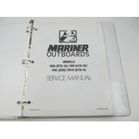 90-84520-1 386 Outboard Service Repair Manual for Mariner 40 HP Models