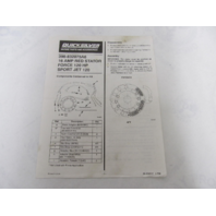 Quicksilver 398-832075A6 16 Amp Red Stator Instruction Sheet & Diagram