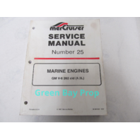 90-861328 Mercury Mercruiser #25 Service Manual Marine Engines GM V-6 262 CID 4.3L