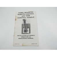 90-88151 2-381 Mercury Panel Mount Remote Control Installation & Owner Manual