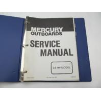 90-89156 1979 Mercury Outboard Service Repair Manual 3.6 HP