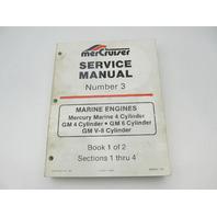 90-95693 1085 MerCruiser Service Repair Manual Number 3 GM Marine Engines Book 1