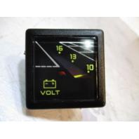 1980s Bayliner Capri Square Volt Voltage Gauge Faria Blue Red