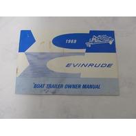 978667 Evinrude Boat Trailer Owner's Operator's Manual 1969 16' 19'