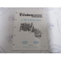 986552 1990 OMC Cobra Stern Drive Parts Catalog 3.0L PWC