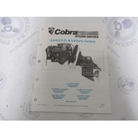 986555 1990 OMC Cobra Stern Drive Parts Catalog 5.0L/5.0HO 5.8L PWS