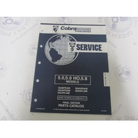 987488 1992 OMC Cobra Stern Drive Parts Catalog 5.0/5.8L 5.0HO