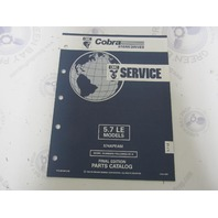 987489 1992 OMC Cobra Stern Drive Parts Catalog 5.7 LE