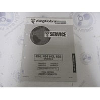987858 1993 OMC King Cobra Stern Drive Parts Catalog 454 454HO 502