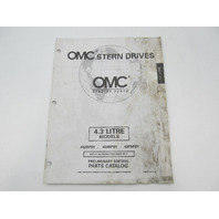 988236 OMC Stern Drive Prelim Parts Catalog 4.3L 1998 432BPBY 434BPBY 43FBPBY